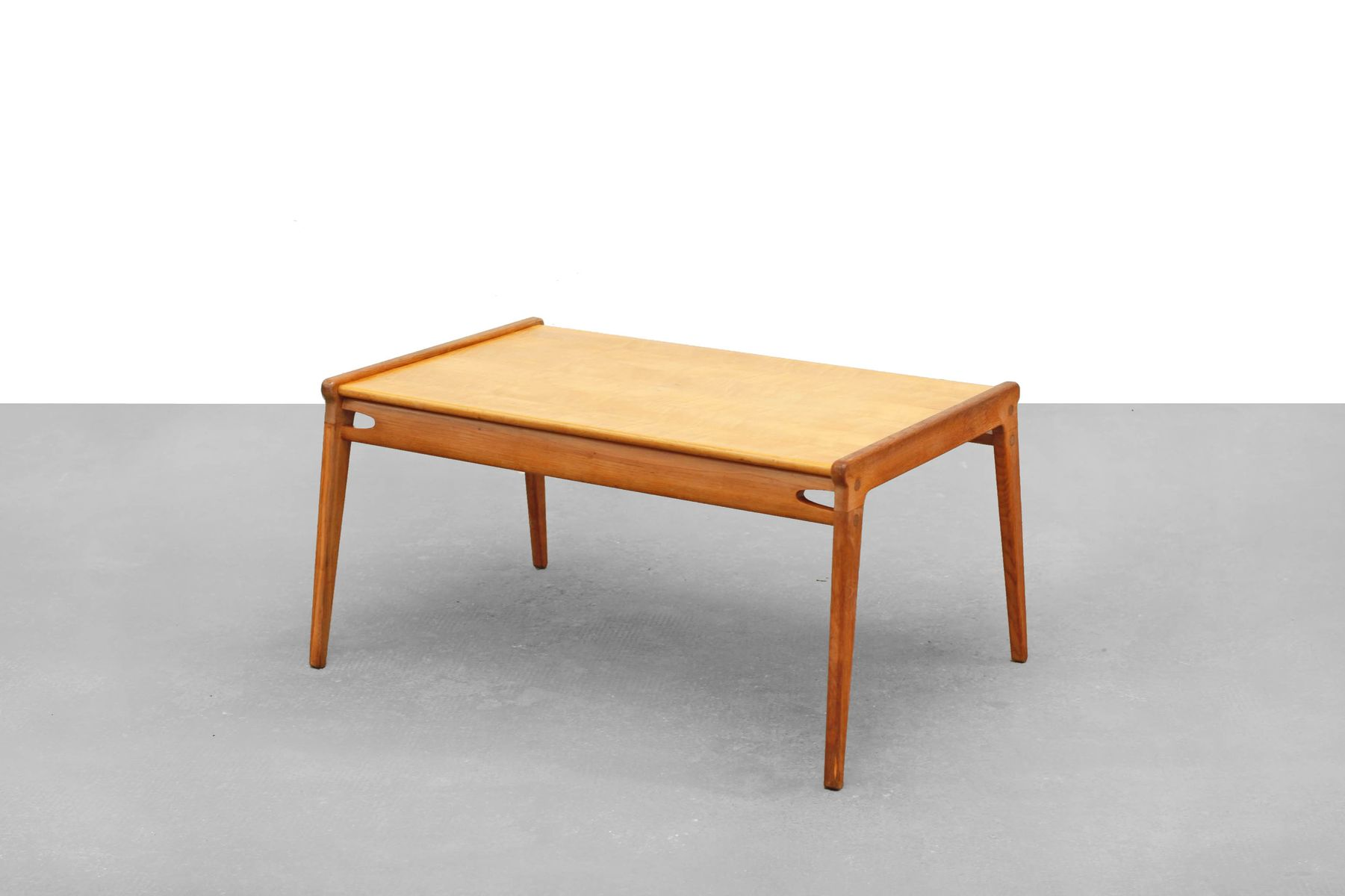 Mid century german oak coffee table for sale at pamono for Coffee tables 80cm wide
