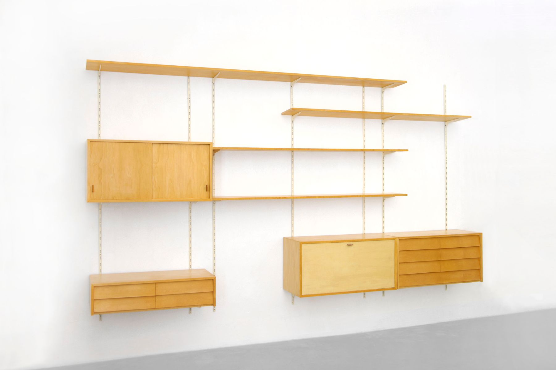 Mid-Century Wall Unit by Florence Knoll Bassett, 1950s
