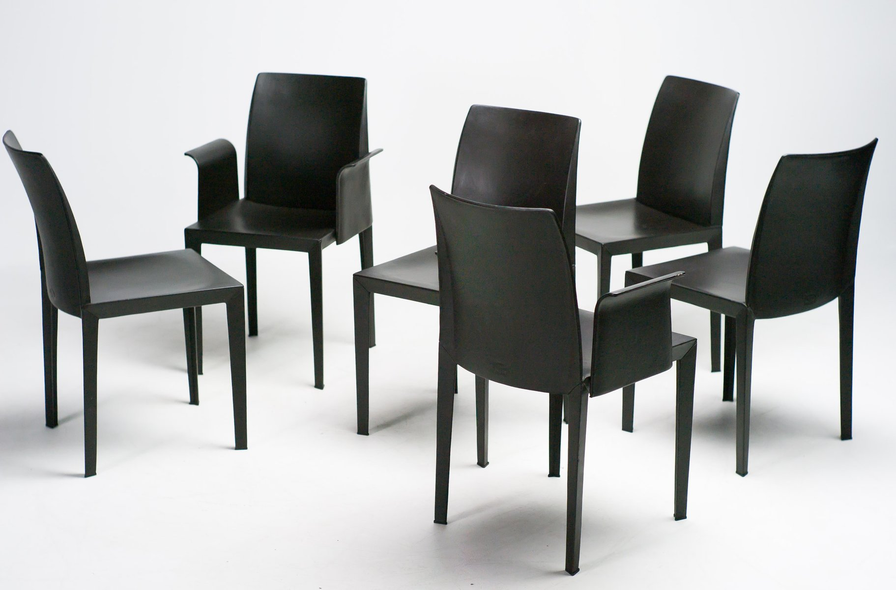 lola dining chairs by luigi cerri for poltrona frau set. Black Bedroom Furniture Sets. Home Design Ideas