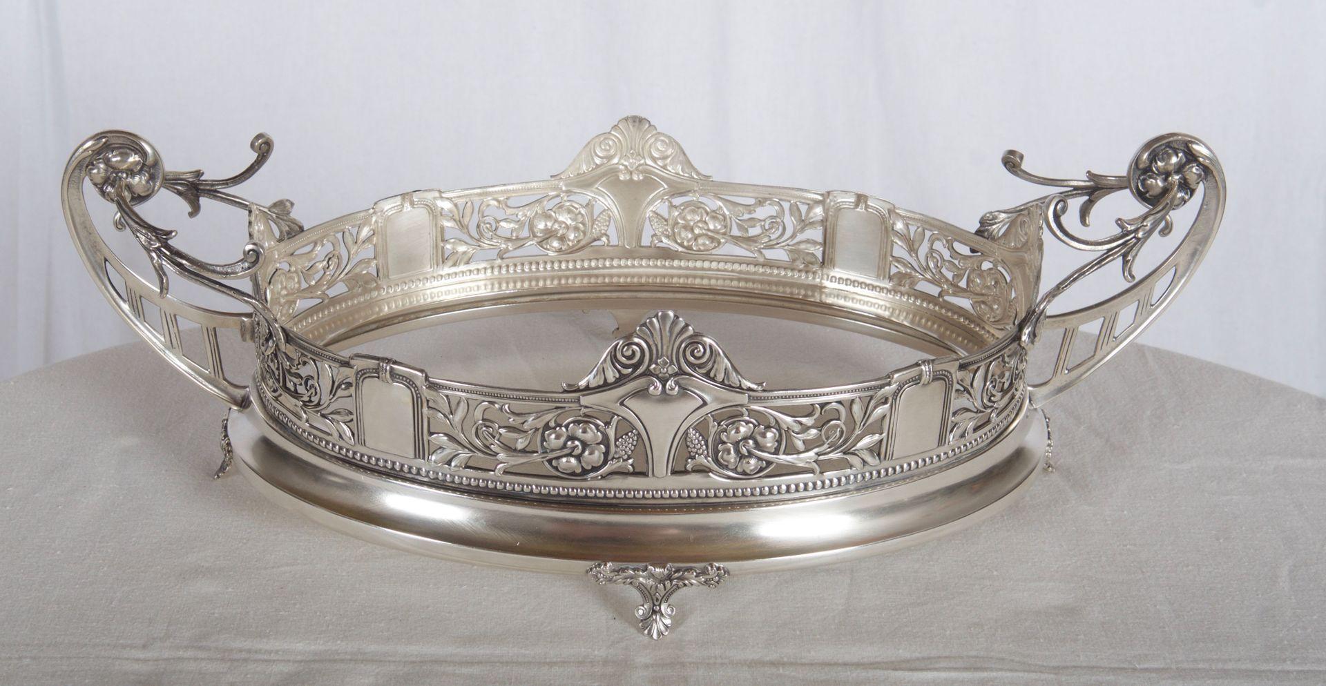 antique viennese art nouveau silver jardini re for sale at. Black Bedroom Furniture Sets. Home Design Ideas