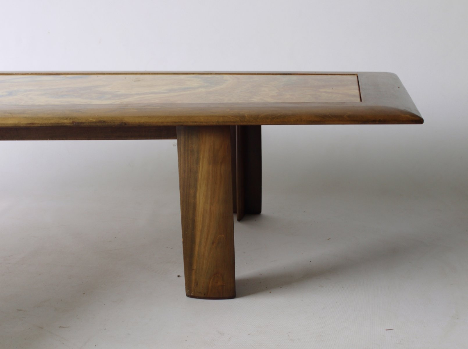 Large L Shaped Marble Coffee Table, 1970s