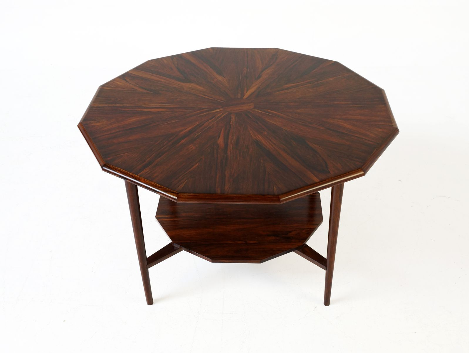 Rosewood Coffee Table With 12 Sides 1960s For Sale At Pamono