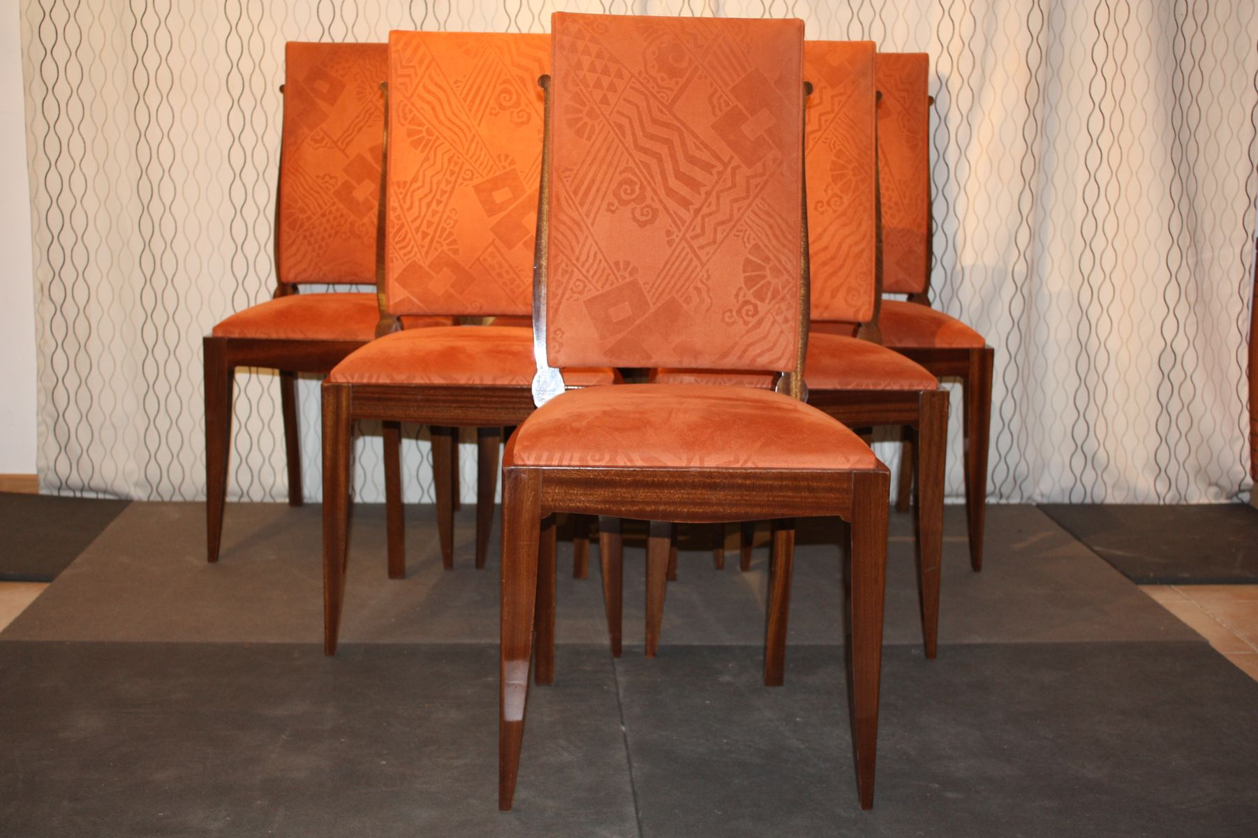 art deco dining chairs by gaston poisson set of 6 art deco dining 6