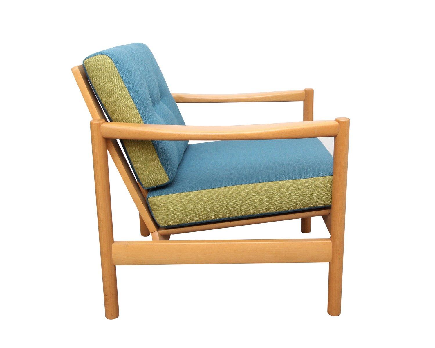 sessel in blau hellgr n 1960er bei pamono kaufen. Black Bedroom Furniture Sets. Home Design Ideas