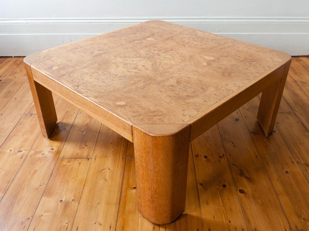 go er viereckiger couchtisch aus wurzelholz eiche bei pamono kaufen. Black Bedroom Furniture Sets. Home Design Ideas