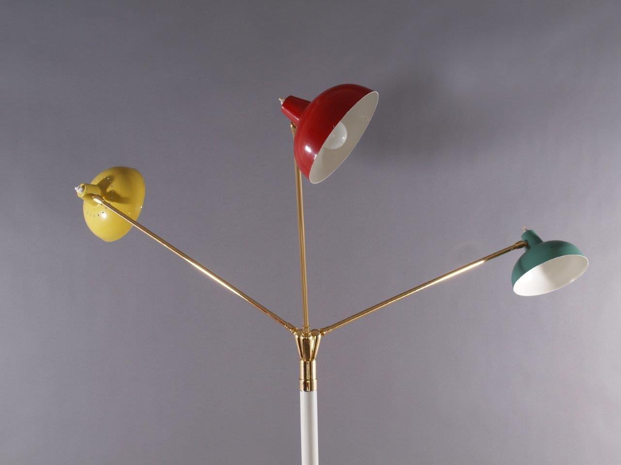Italian three armed floor lamp from arredoluce 1950 for for Arredo luce