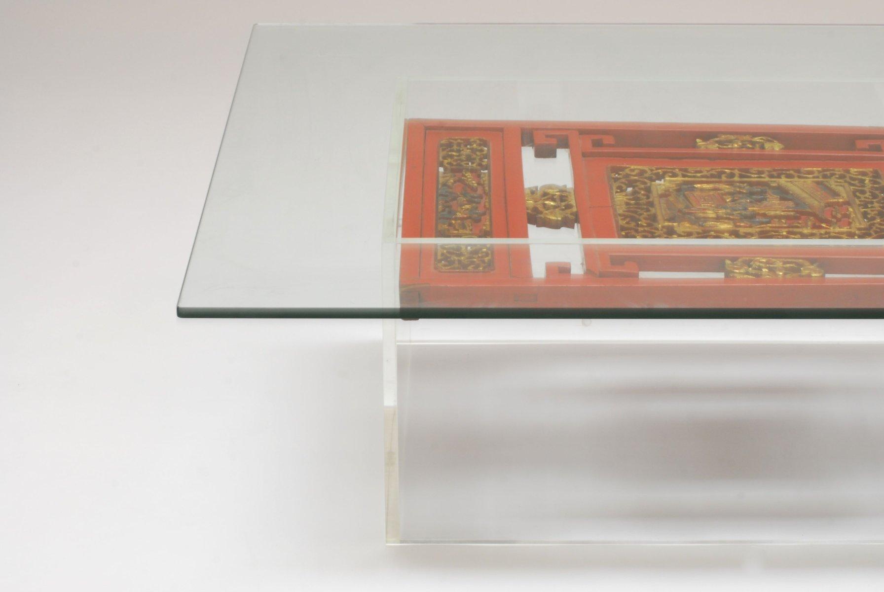 Plexiglas couchtisch mit chinesischen tafeln bei pamono kaufen for Couchtisch plexiglas