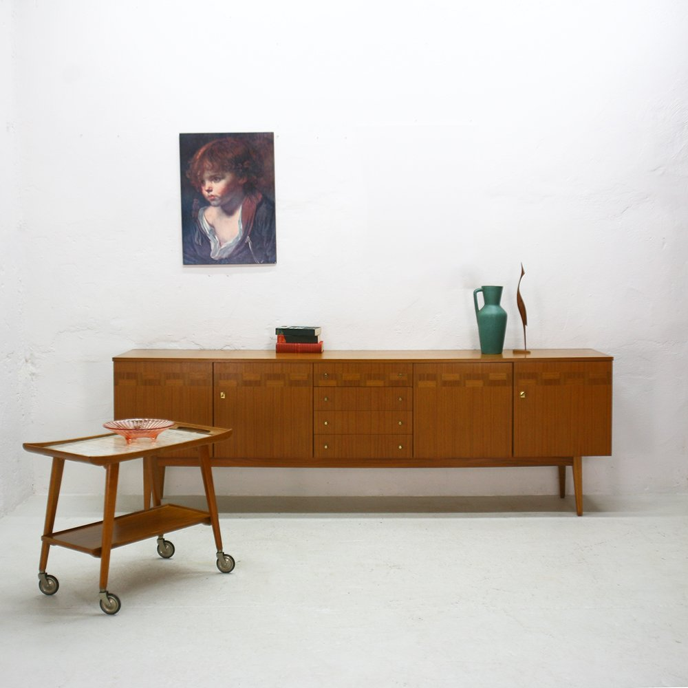 German walnut sideboard 1960s for sale at pamono for Sideboard 250 cm