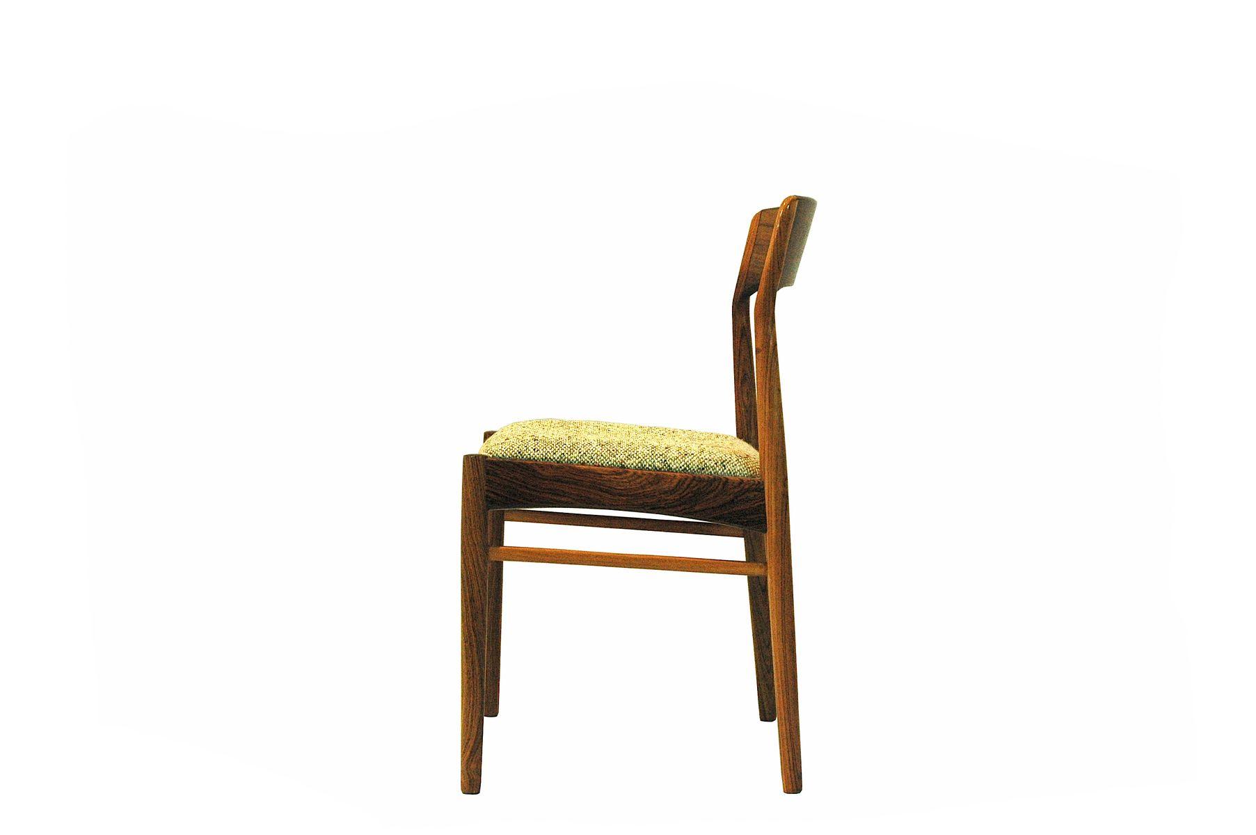 Chaises de salon en palissandre par kai kristiansen pour for Chaise pour salon