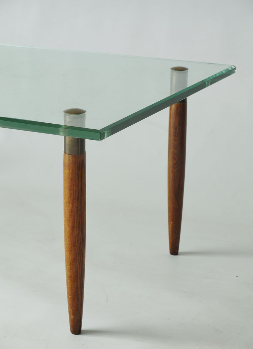 Walnut Glass Coffee Table From Fontana Arte 1950s For Sale At Pamono