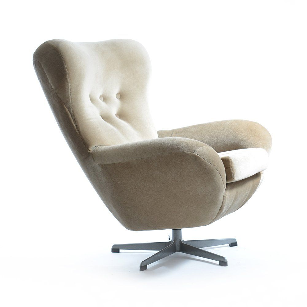 Vintage Czech Swivel Armchair From UP Z Vody Brno For Sale At Pamono