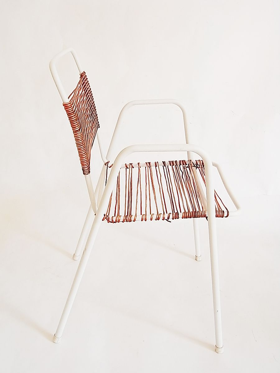 franz sische gartenst hle aus eisen strick 1950er 4er set bei pamono kaufen. Black Bedroom Furniture Sets. Home Design Ideas
