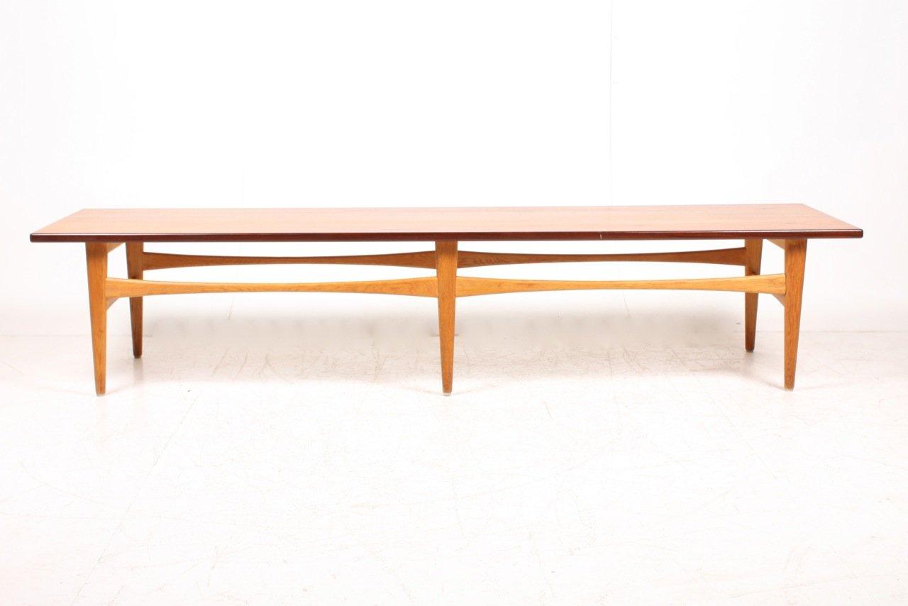 Danish Low Teak Oak Coffee Table 1950s For Sale At Pamono