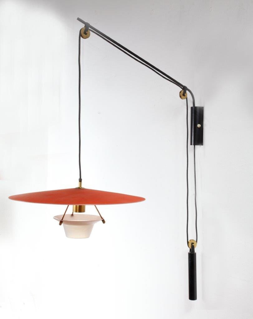 italian swing arm wall lamp 1960s