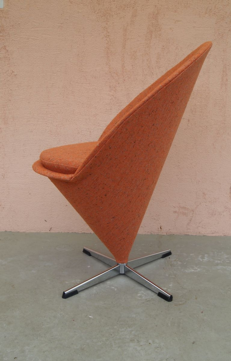 vintage cone stuhl in orange von verner panton bei pamono kaufen. Black Bedroom Furniture Sets. Home Design Ideas