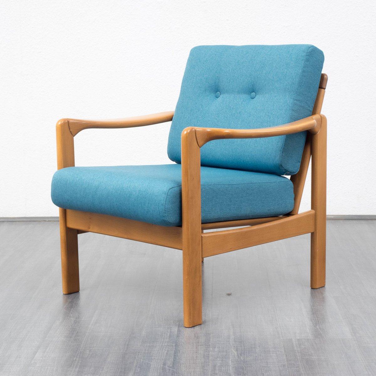 fauteuil bleu p trole 1960s en vente sur pamono. Black Bedroom Furniture Sets. Home Design Ideas