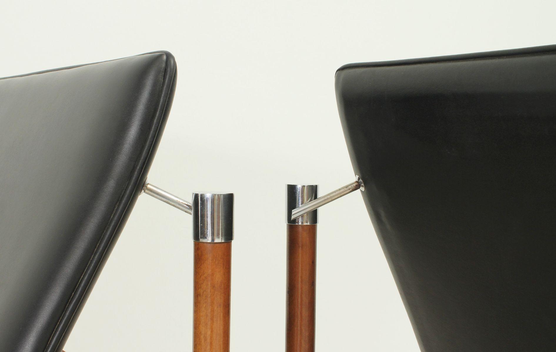 Walnut & Vinyl Lounge Chair by Sven Ivar Dysthe for Dokka M¸bler