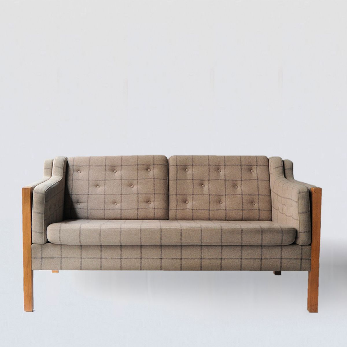 Danish Oak And Wool Sofa By Mogens Hansen For Sale At Pamono