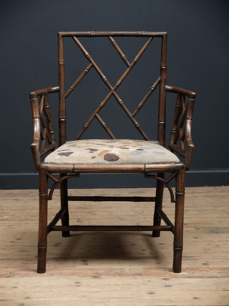 Chippendale arm chair - Antique Chinese Chippendale Armchair