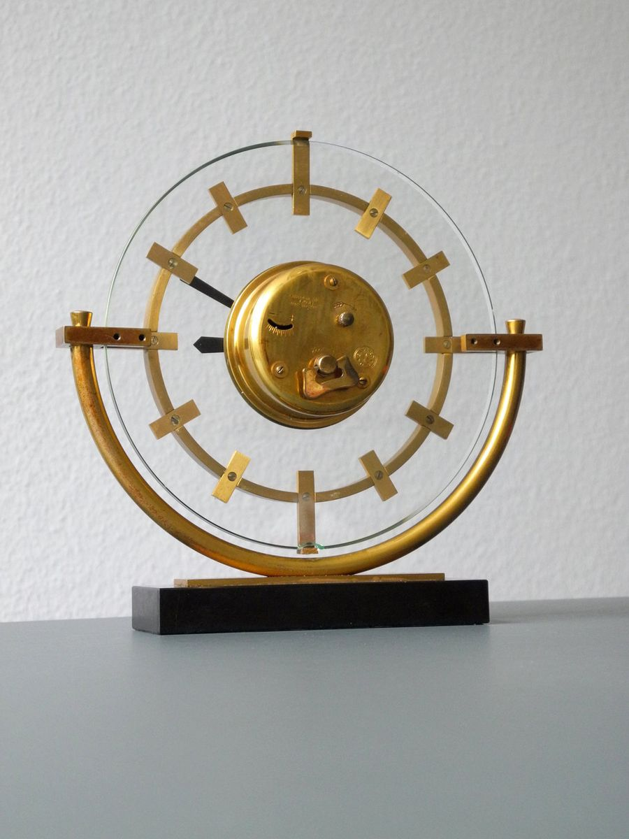 midcentury french solid brass clock from bayard for sale at pamono - price per piece