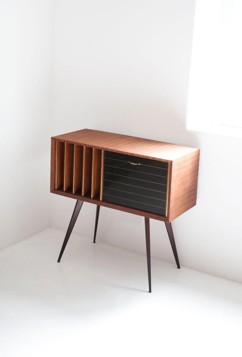 Italian mahogany hi fi cabinet 1960s for sale at pamono for Meuble hifi vintage