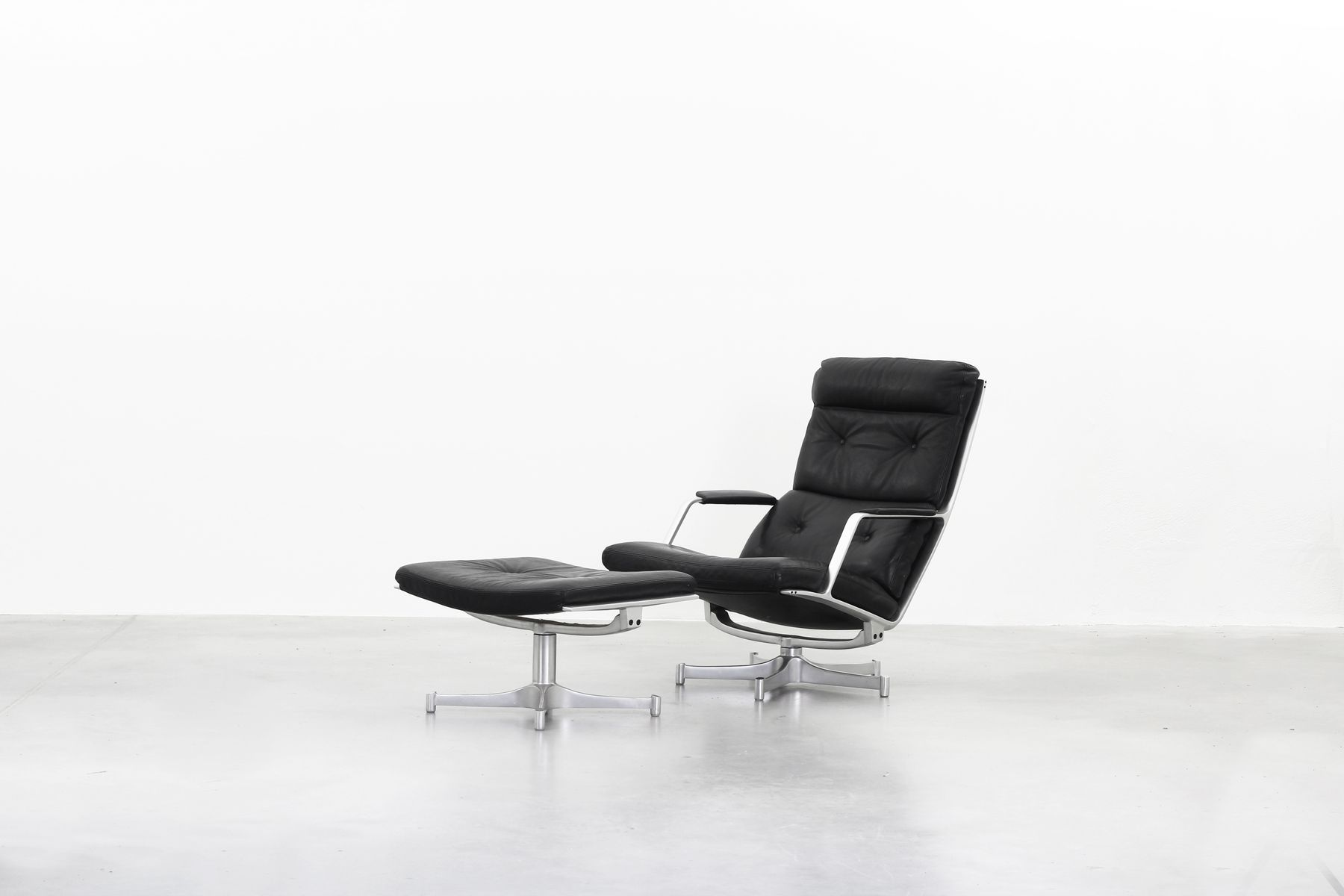 FK85 Lounge Chair & Ottoman Set by Fabricius & Kastholm for Kill
