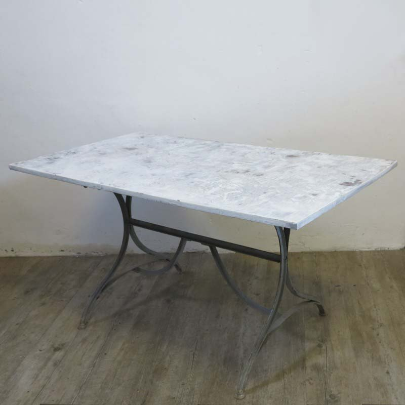 industrial metal wooden dining table 1940s for sale at pamono