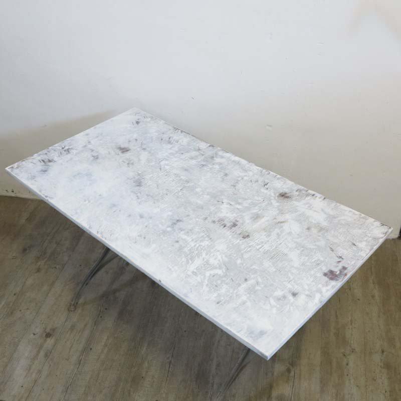 industrieller metall holz esstisch 1940er bei pamono kaufen. Black Bedroom Furniture Sets. Home Design Ideas