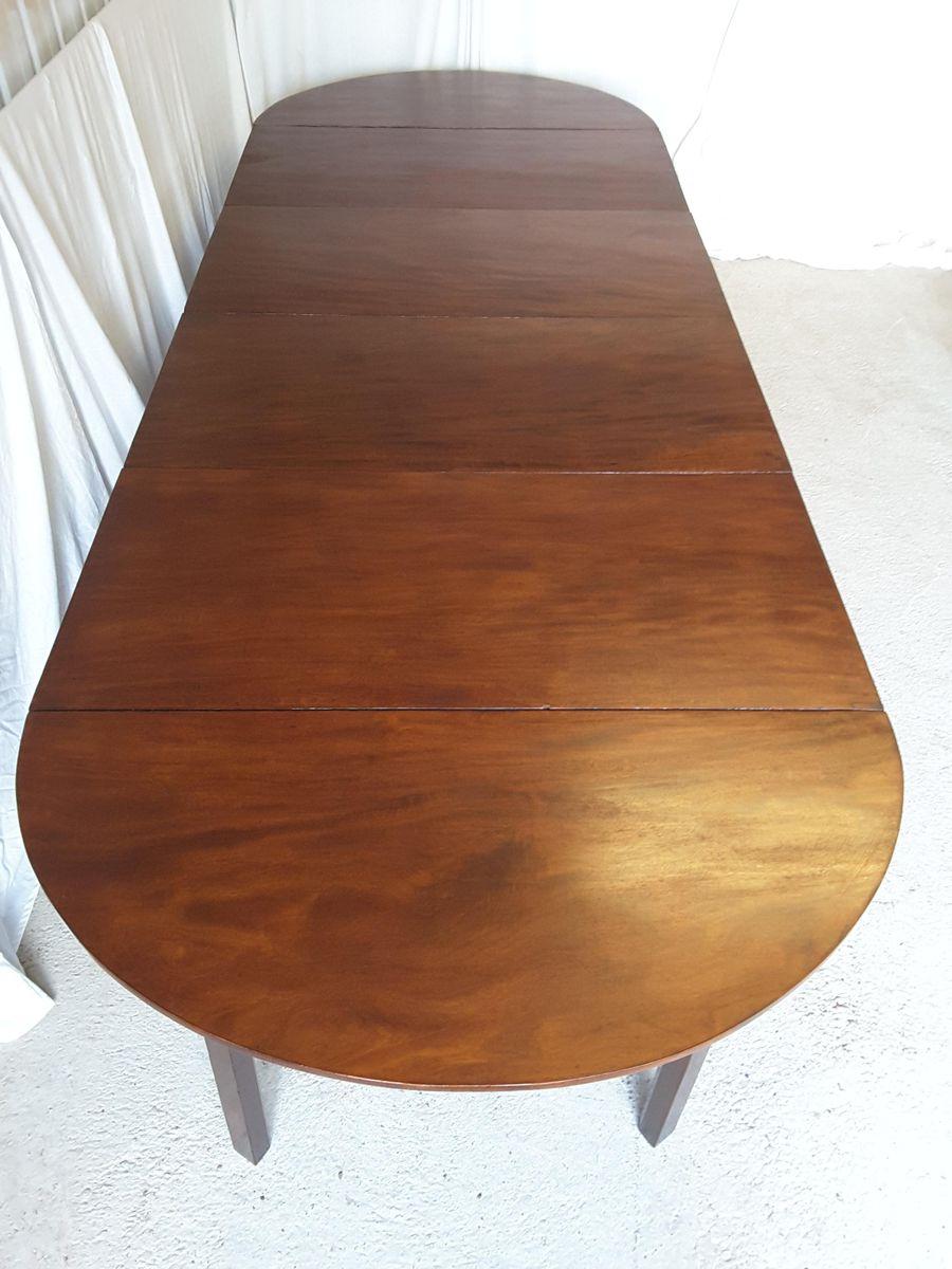 Tavolo da pranzo grande antico allungabile in monago, inizio XIX secolo in vendita su Pamono