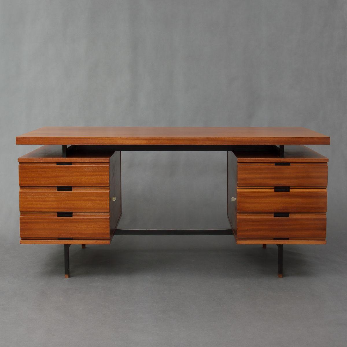 mahagoni schreibtisch von pierre guariche f r huchers minivelle 1960er bei pamono kaufen. Black Bedroom Furniture Sets. Home Design Ideas