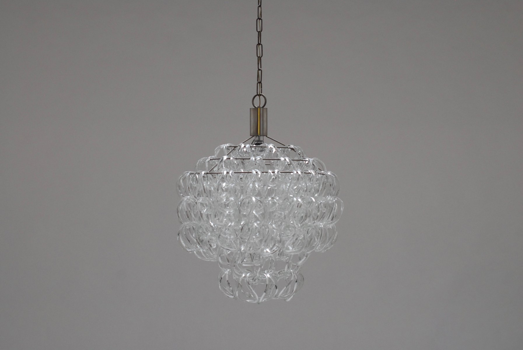 Giogali Chandelier by Angelo Mangiarotti for Vistosi, 1968 for ...