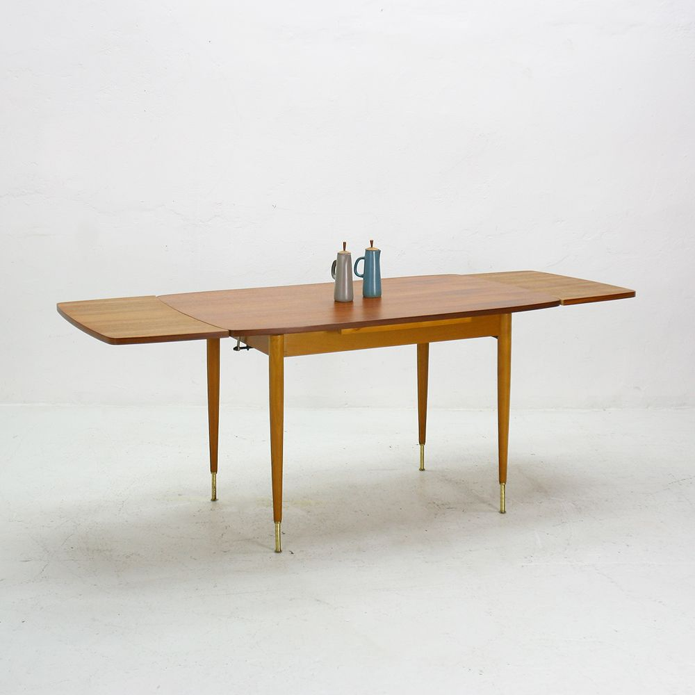 Extendable teak coffee or dining table 1950s for sale at pamono Coffee table to dining table