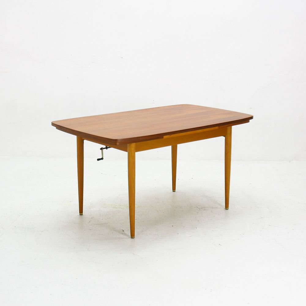 Extendable Teak Coffee Or Dining Table 1950s For Sale At
