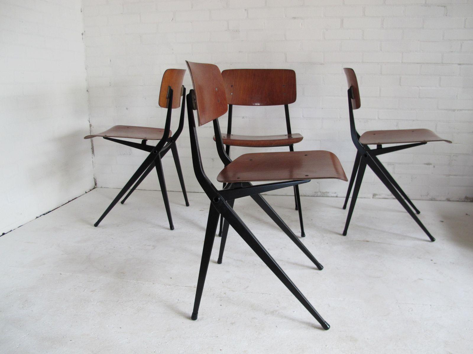 chaises industrielles par ynske kooistra pour marko 1960s set de 4 en vente sur pamono. Black Bedroom Furniture Sets. Home Design Ideas