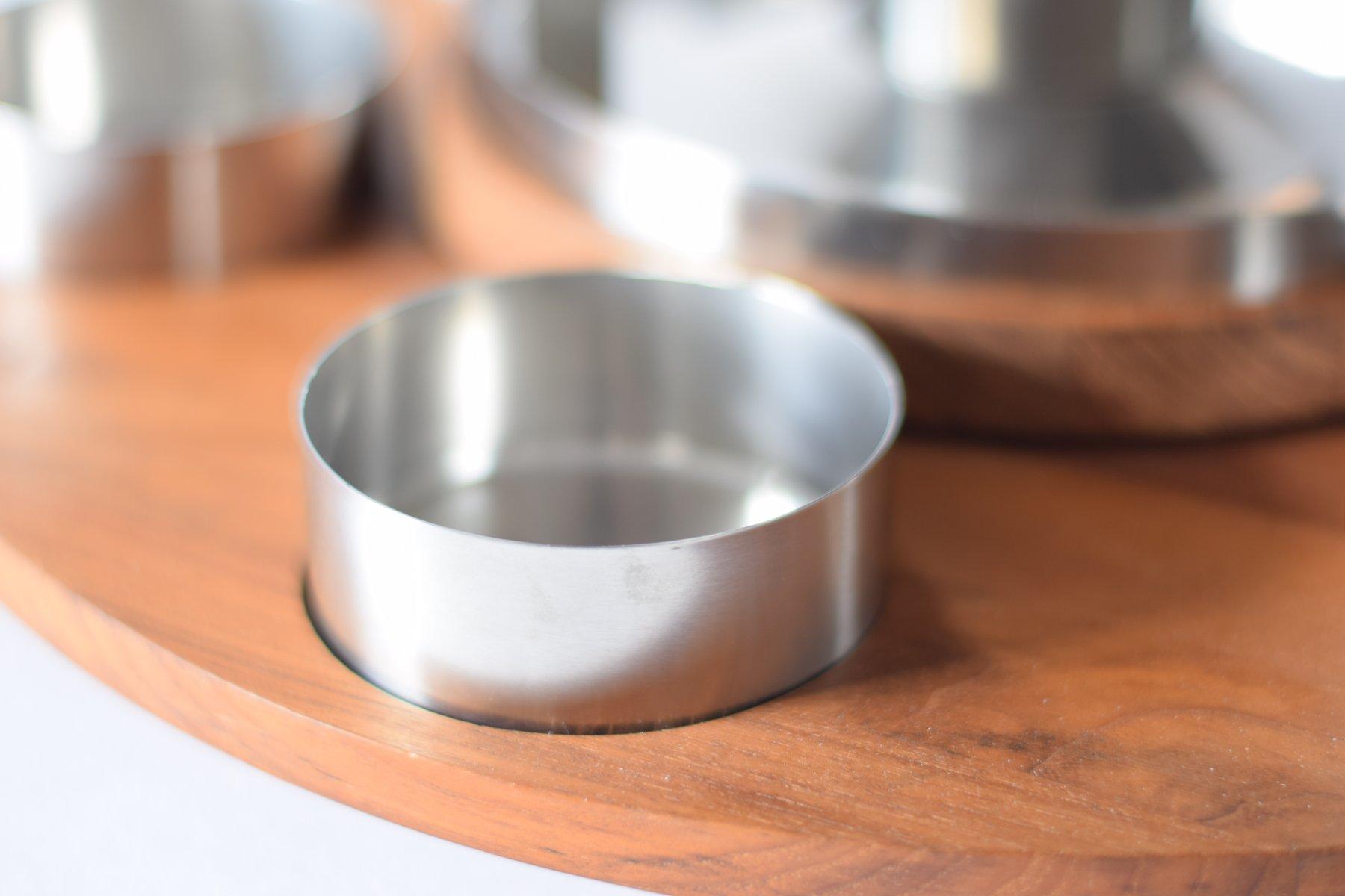 d nisches mid century fondue set mit lazy susan von peter holmblad f r stelton 1960er bei. Black Bedroom Furniture Sets. Home Design Ideas