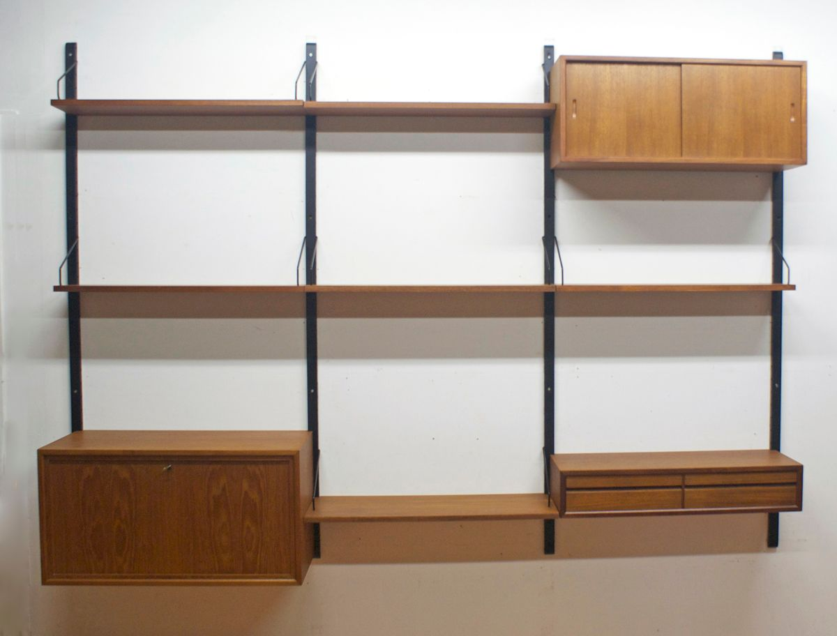 danish modular wall unit by poul cadovius for royal system