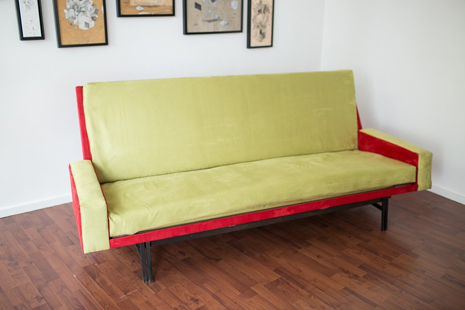 french threeseater convertible sofa bed by ren jean caillette for steiner