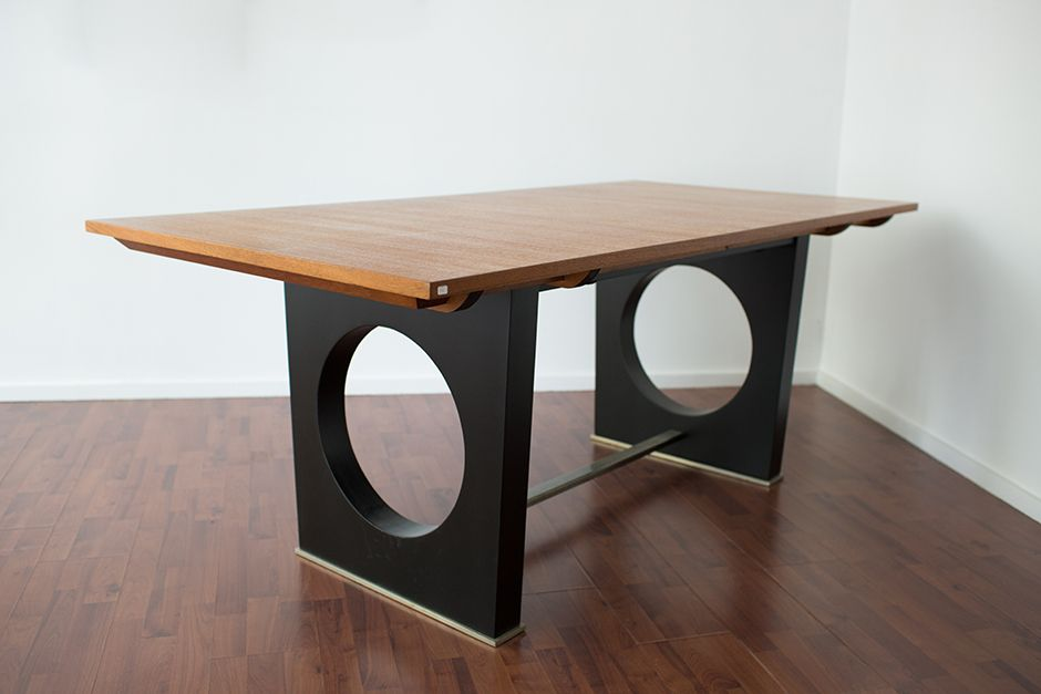 french teak and metal dining table 1960s for sale at pamono