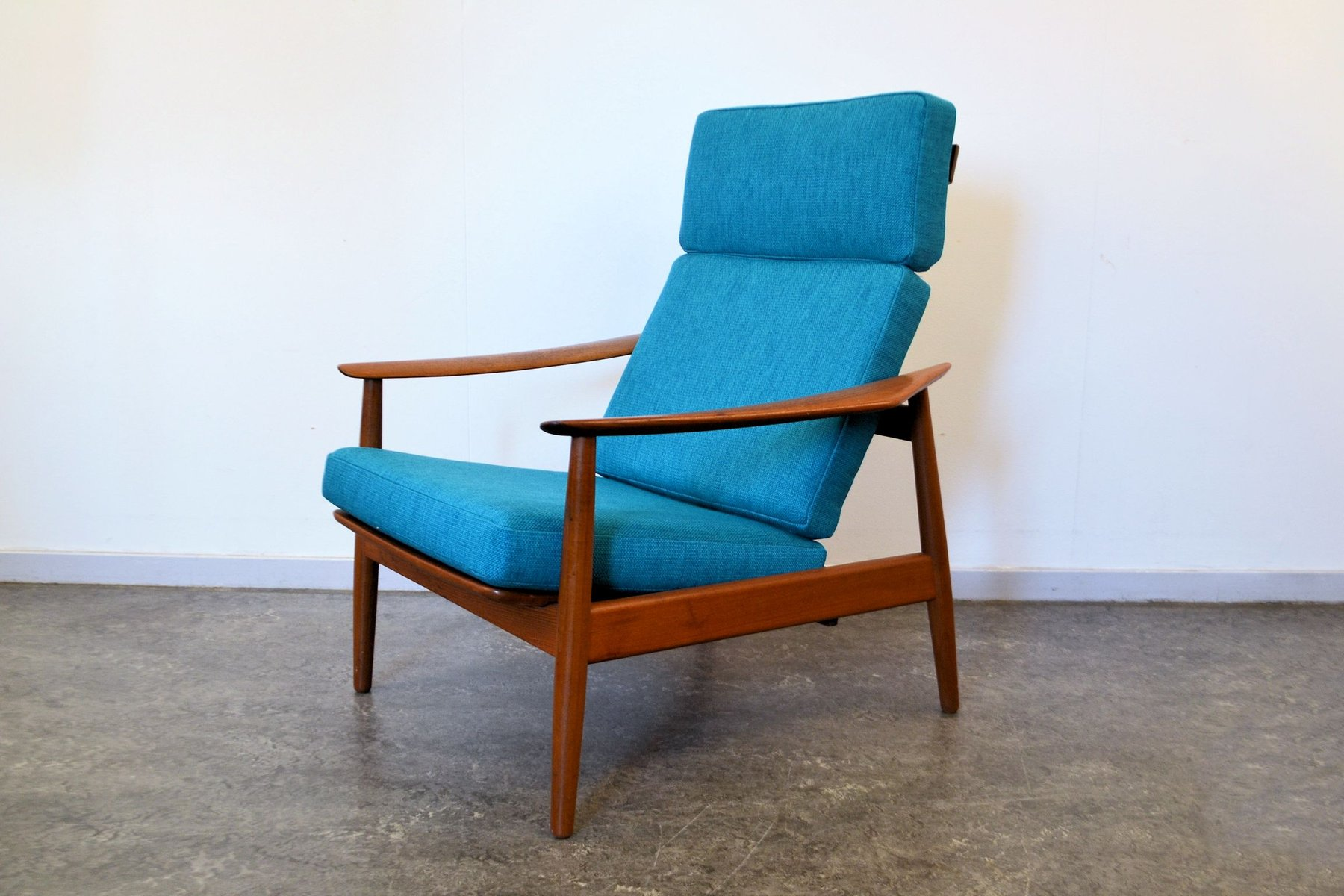 FD164 Teak Lounge Chair And Ottoman Set By Arne Vodder For France Son F