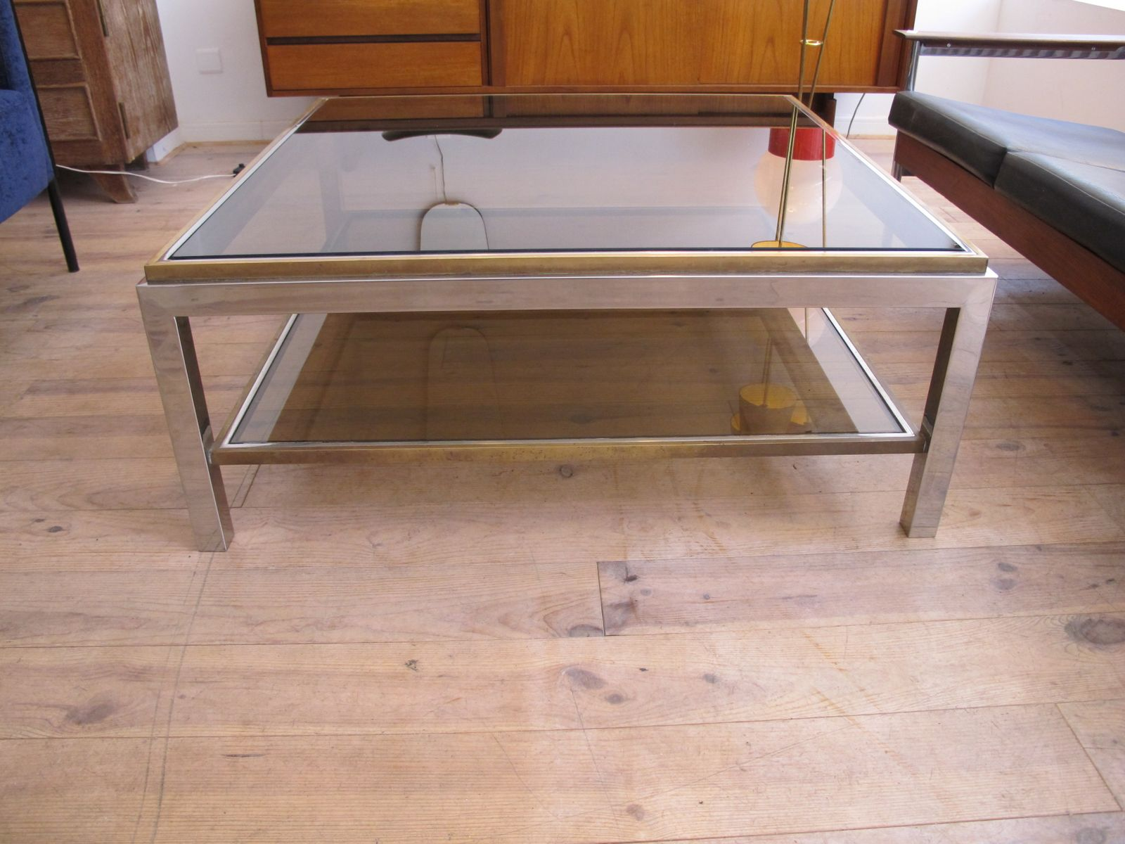 Vintage Flaminia Coffee Table By Willy Rizzo For Sale At Pamono