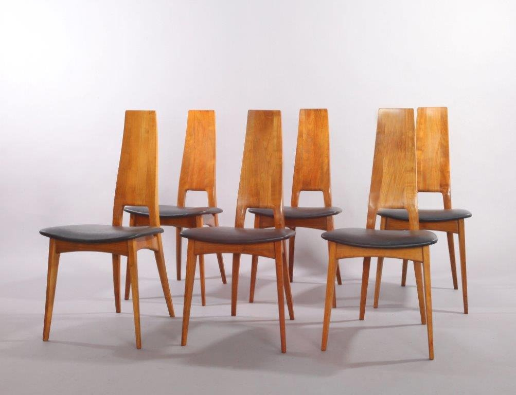 German Cherry Wood Extendable Dining Table with Six Chairs  : german cherry wood extendable dining table with six chairs by ernst martin dettinger for lu bke 1960s set of 7 4 from www.pamono.co.uk size 1003 x 768 jpeg 53kB