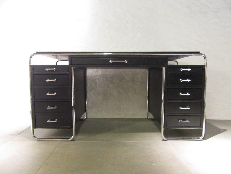 finnischer bauhaus schreibtisch von pauli ernesti. Black Bedroom Furniture Sets. Home Design Ideas