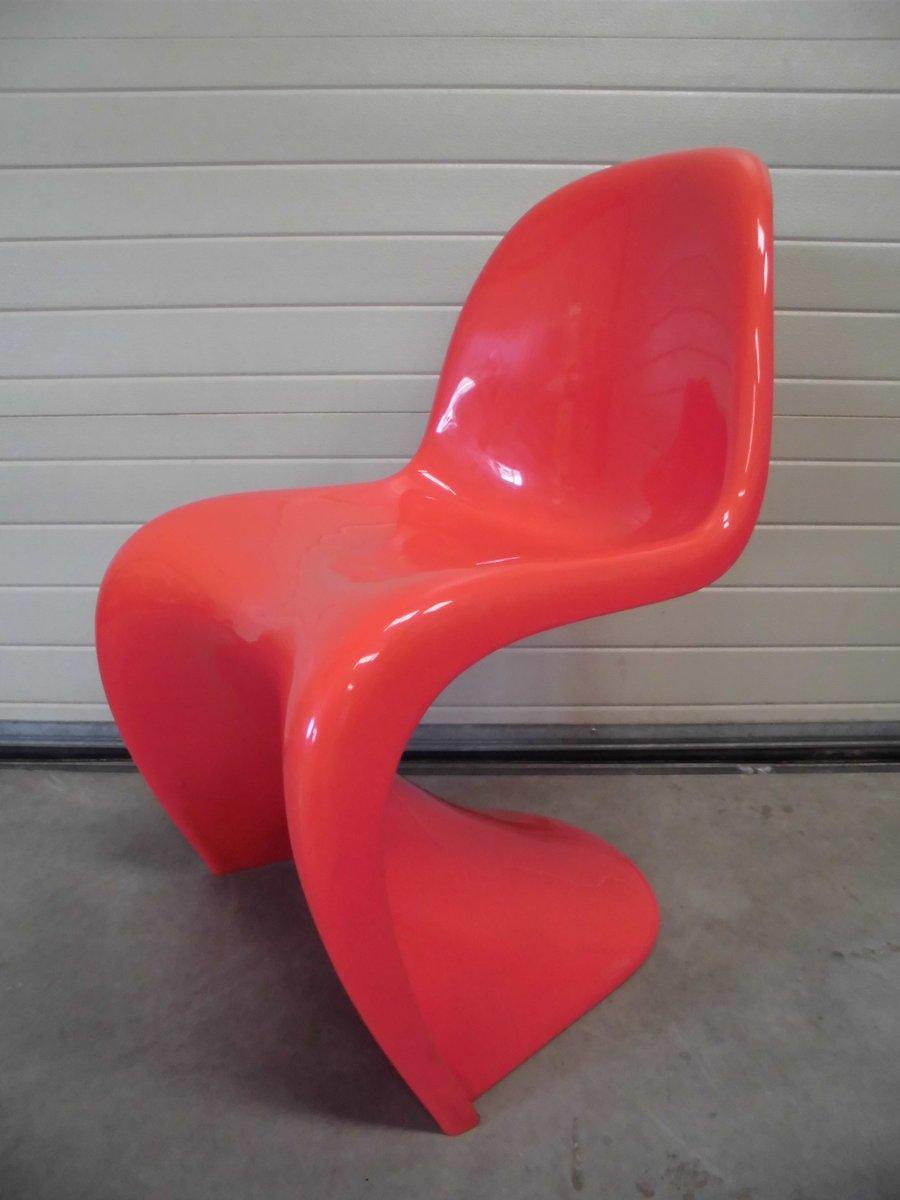 chaise panton rouge par verner panton pour herman miller 1971 en vente sur pamono. Black Bedroom Furniture Sets. Home Design Ideas