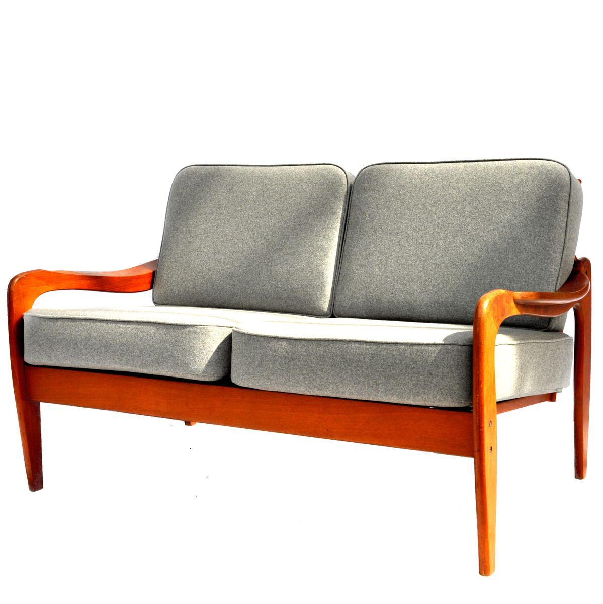 2 sitzer sofa aus teakholz von komfort bei pamono kaufen. Black Bedroom Furniture Sets. Home Design Ideas