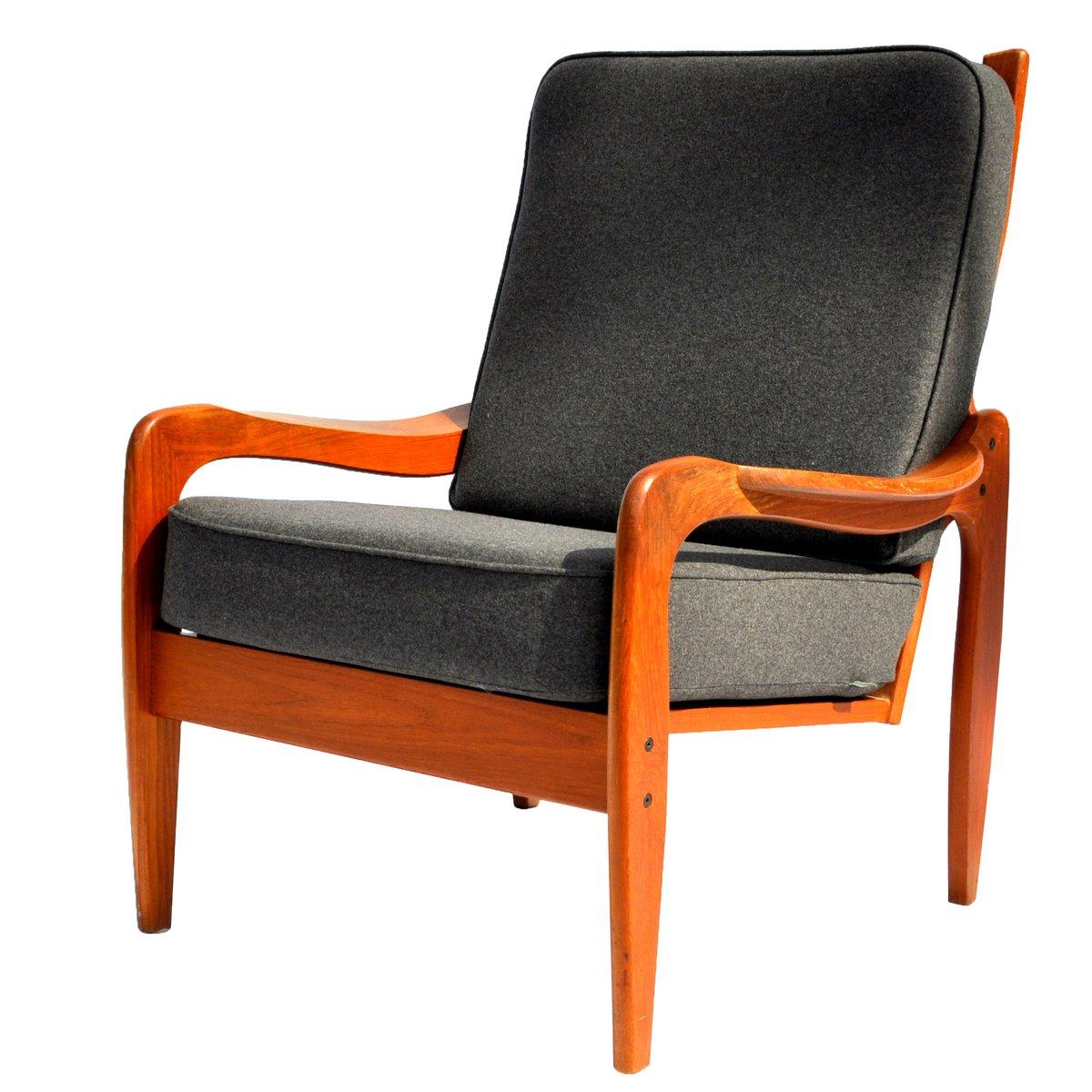 Danish Highback Teak Chair From Komfort For Sale At Pamono