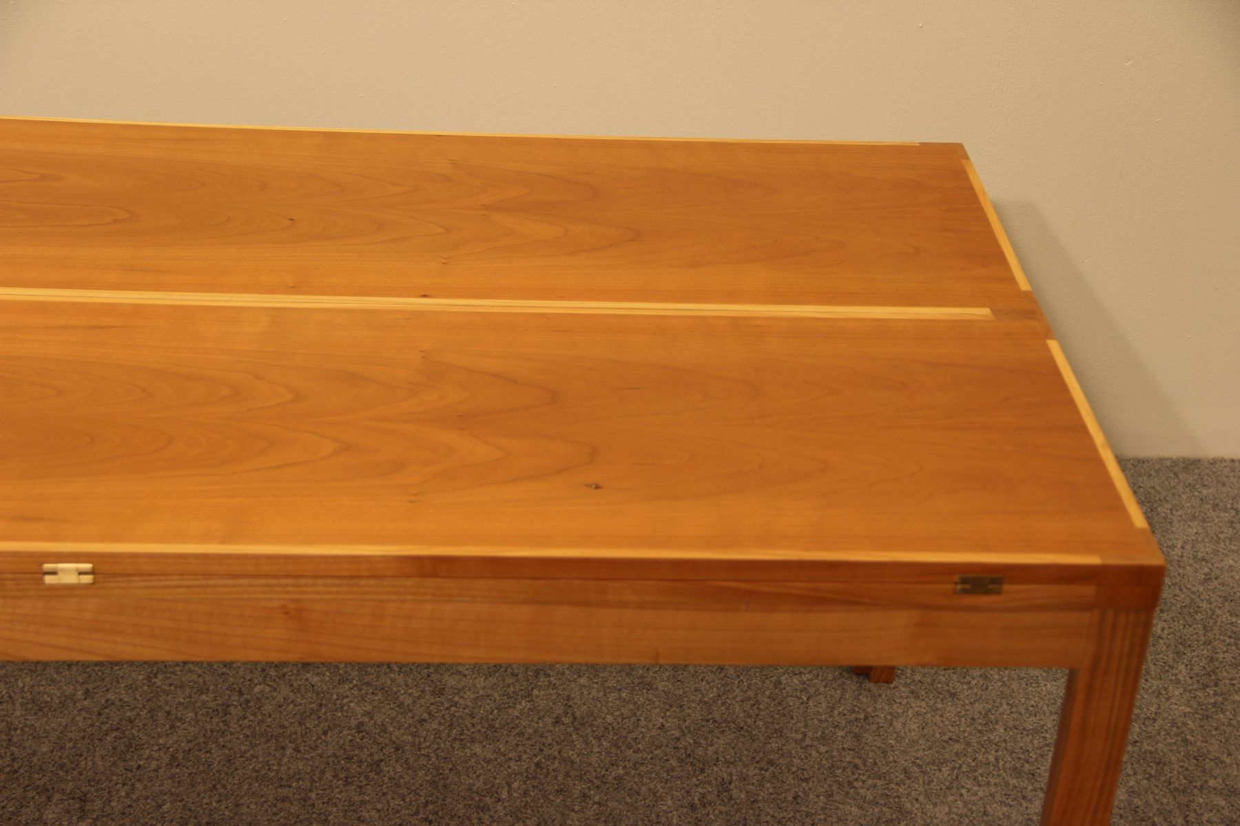 Vintage Extendible Cherry Coffee Table by Rud Thygesen & Johnny
