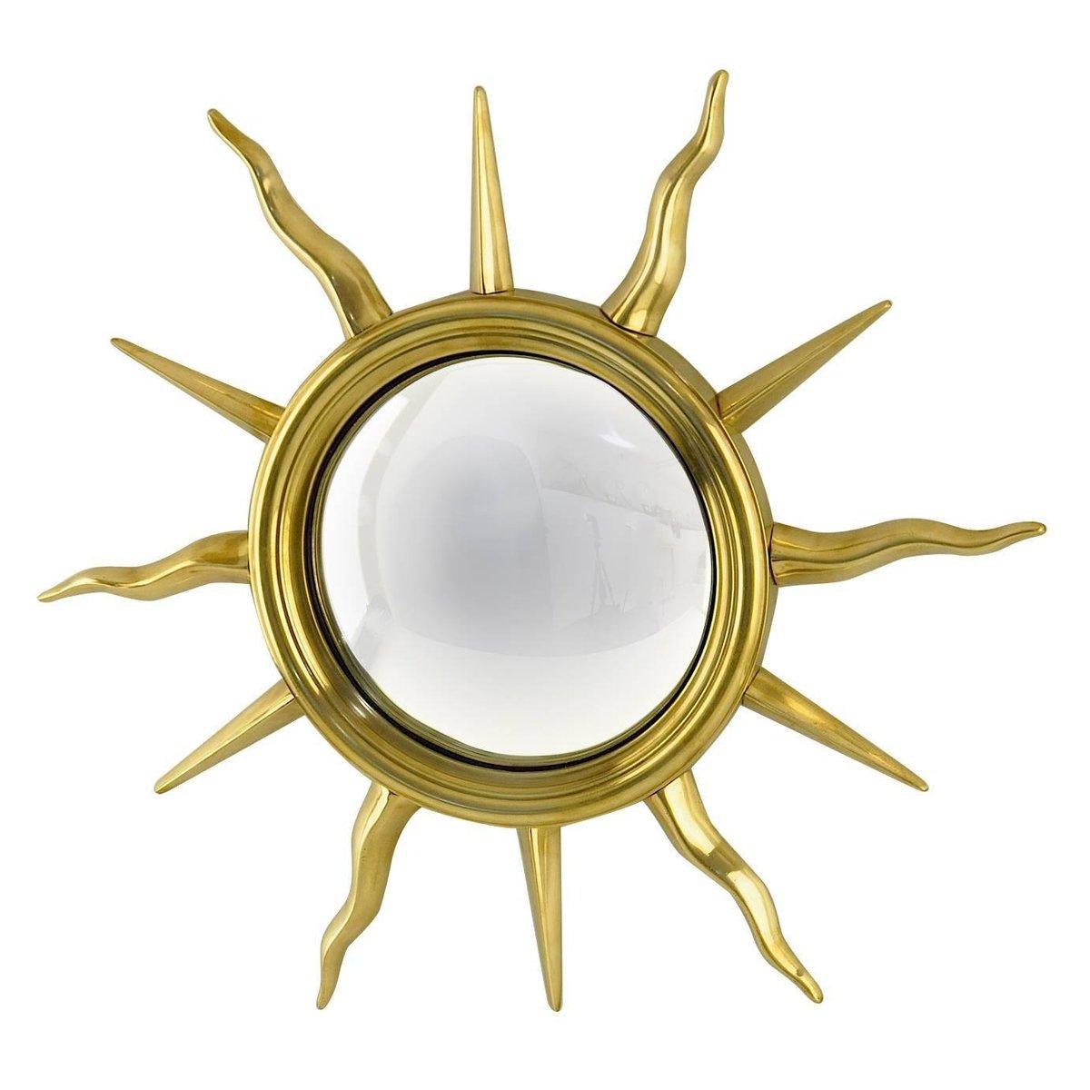 Miroir sunburst en laiton france en vente sur pamono for Miroir laiton