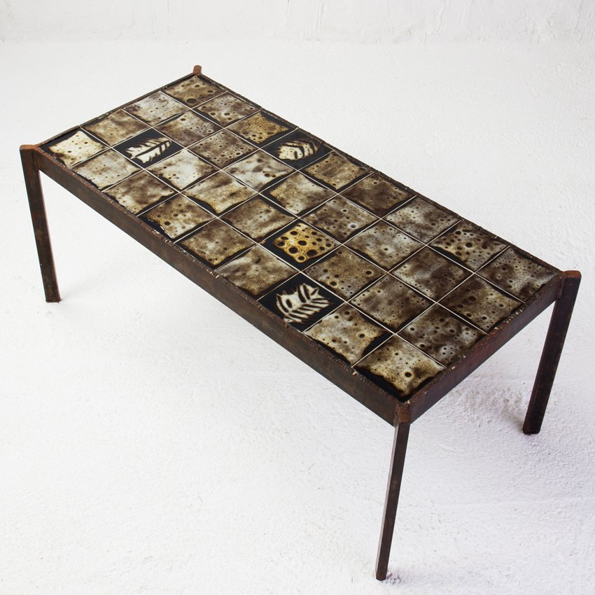 Low Ceramic Coffee Table By Mado Jolain For Sale At Pamono