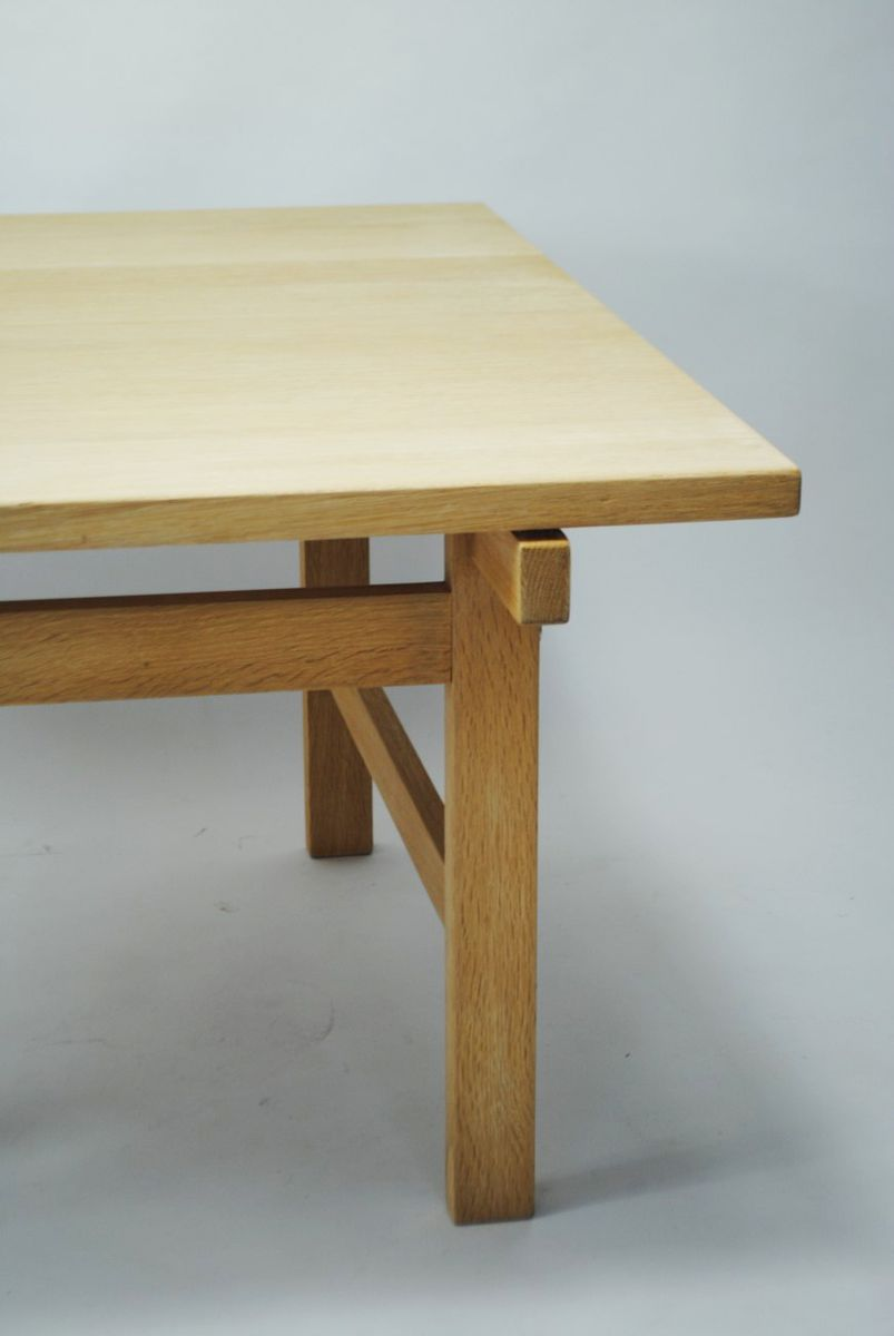 Price per piece - Danish Oak Coffee Table By Hans J. Wegner For PP Møbler For Sale
