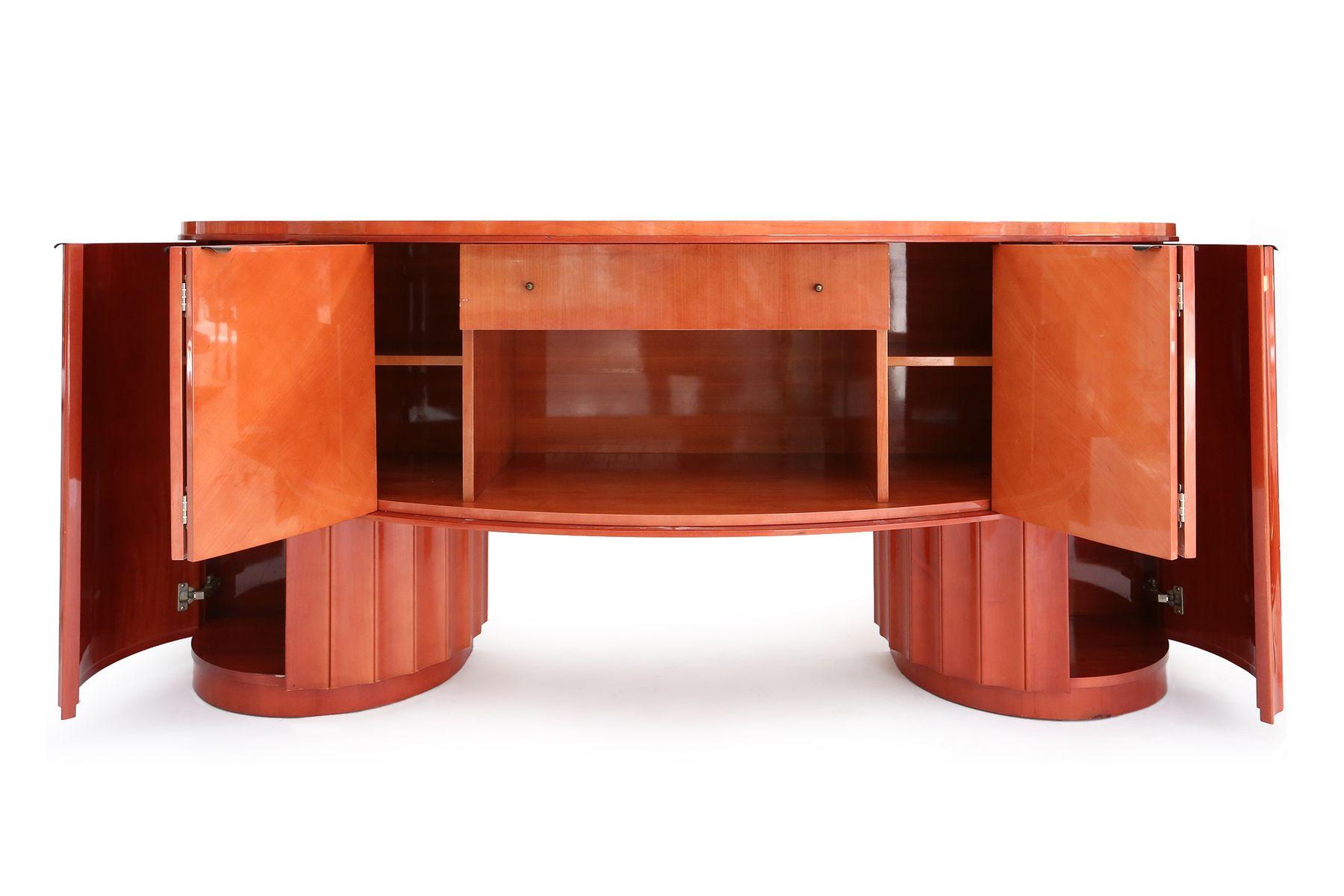 italienisches sideboard mit spiegel 1980er bei pamono kaufen. Black Bedroom Furniture Sets. Home Design Ideas